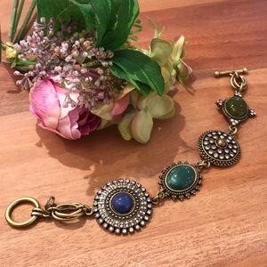 Loft Golden Bracelet with Multicolored Stones